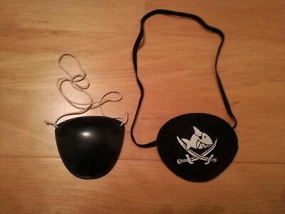 2x Pirat Augenklappe / Klappe / Seemann