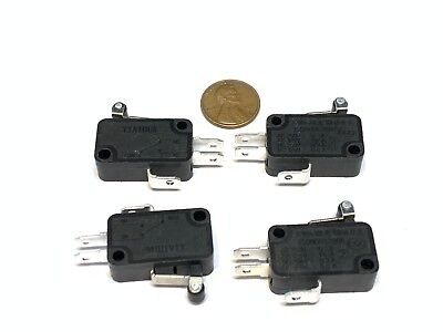 4 Pieces Black Limit Switch Rollar Roller Micro Small 3d Printer Cnc Lever C19