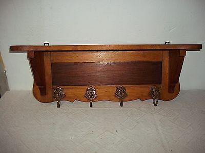 garderobenhaken-wandgarderobe-bord- 63cm-schöne Brass Hook