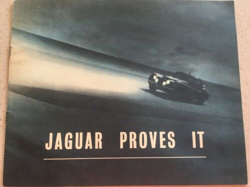 Very Very Rare Original 1952 Jaguar Proves it Brochure by Shell