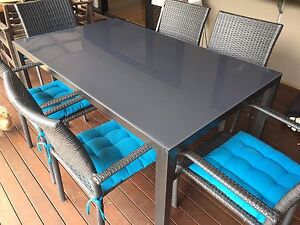 6 seater outdoor table setting Woombye Maroochydore Area Preview