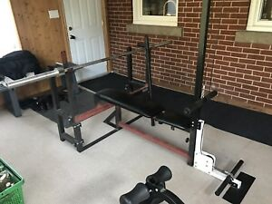 Olympic bar northern light weight set.   Loads of extras.