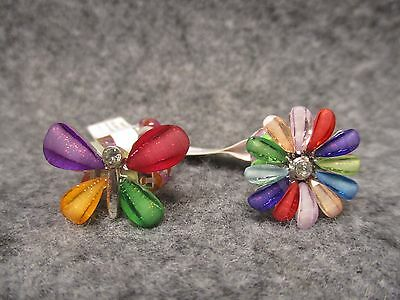 Bitty Blossoms Petite Girls Teens Flower Or Butterfly Bead Beaded Stretch Ring