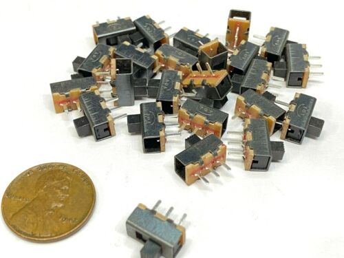 25 pieces Slide Switch SS-12F17 1P2T 3Pin 2 Position SPDT on/off  E19