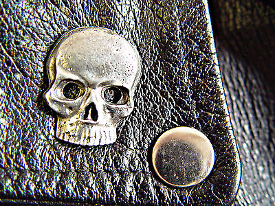 Classic Vintage Skull  Motorcycle Vest Biker Pin 1126a