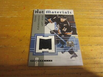 Tomas Fleischmann 2005 06 Hot Prospects Hot Materials  Hmtf Relic Nhl Capitals