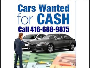 Call 416-6889875 We pay top CASH ON the SPOT for UNWANTED Cars,