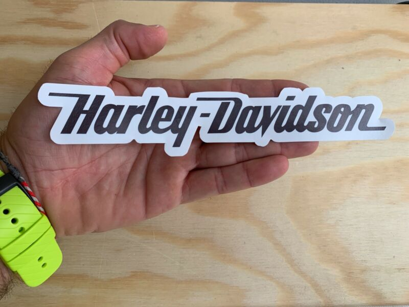 "Harley Davidson Motorcycle Word Sticker 8"" Moto Decal Car Helmet"