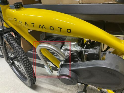 Exhaust With Muffler for: Phatmoto Rover Motorized Bicycle with 79cc Engine.