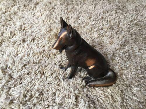 Vintage Metal German Shepherd Dog Figurine