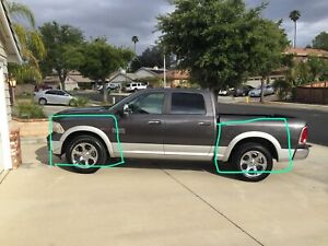 4th gen DODGE RAM FENDER FLARES OEM SMOOTH