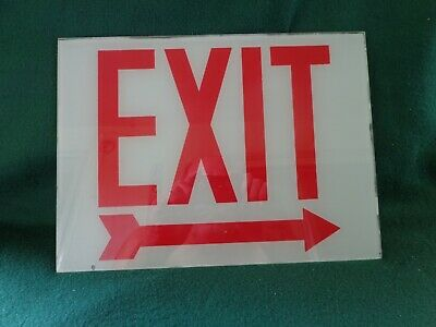 New Exit Sign Replacement Glass Right Arrow 12 X 8 34