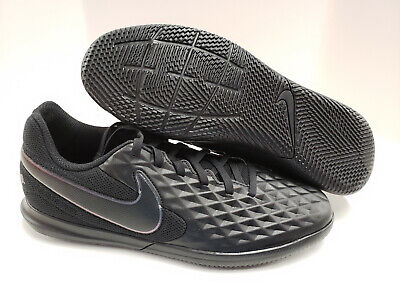 Nike Tiempo Legend 8 Club IC Indoor Court Soccer Cleats Black Black AT6110 010