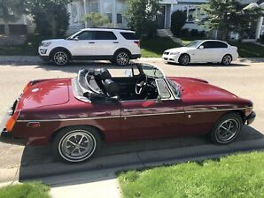 1975 Red MGB Convertible for sale