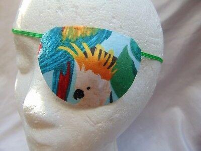 "Woman's handmade eye patch ""Rain Forest Paradise""/vision aid/cataract aid"