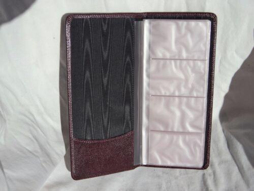 Raika RY126 Burgundy Leather 4 Hi Card File