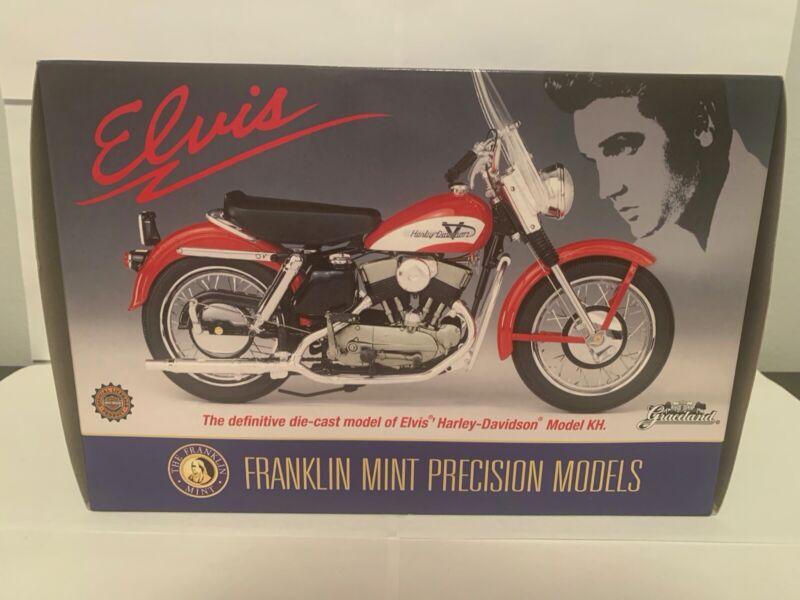 Franklin Mint Elvis Presley 1956 Harley Davidson Sportster Motorcycle With Case