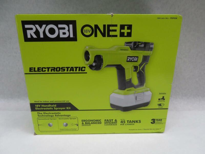 Ryobi PSP02K Cordless Handheld Electrostatic Sprayer Kit