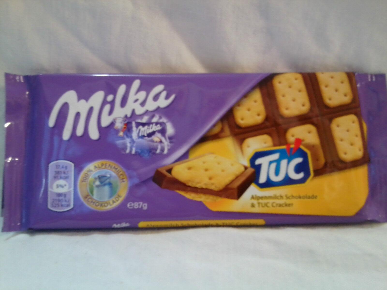 10 Tafeln Milka Alpenmilch Schokolade & TUC Cracker je 100g