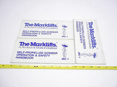 16628 Terex Forklift Scissor Operation And Saftey Handbook Lot Of 3