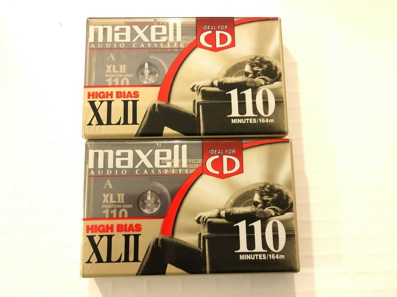 Two MAXELL Audio Cassette CD High Bias XLII 110 Minutes NEW