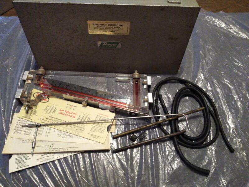 Dwyer Durablock Incline Manometer. 0-2.0 inches of water, acrylic gauge kit.