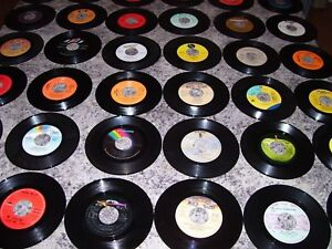 LOT#2= 50 Great Vinyl Records (45 RPM) from the 60's.70's & 80's