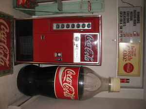 COCA  COLA  5  FOOT  TALL STORE DISPLAY BOTTLE  COOLER