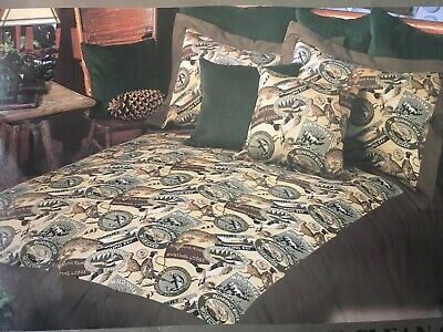 Karin Maki Daybed Ensemble HUNTING Fishing Vtg Style CABIN  Bedspread Set (Style Daybed Set)