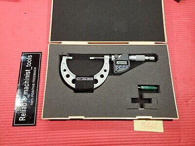 Digital Mitutoyo 2-3 Inch Blade Outside Micrometer 422-332 .00005 In Grad P461