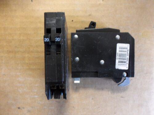 Square D QOT 1 pole twin 20 amp 120/240v QO2020 Circuit Breaker QOT2020 W / hook