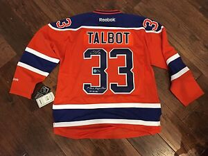 Cam Talbot Edmonton Oilers Signed Limited Edition Jersey