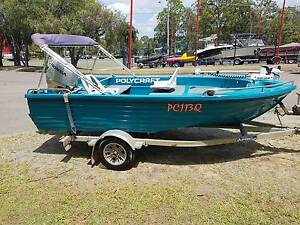 4.1M Polycraft,with 40HP Honda and trailer Clontarf Redcliffe Area Preview
