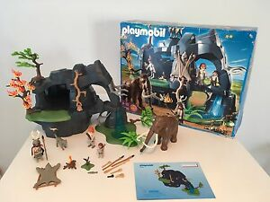 Playmobil Stone age cave with mammoth toy set