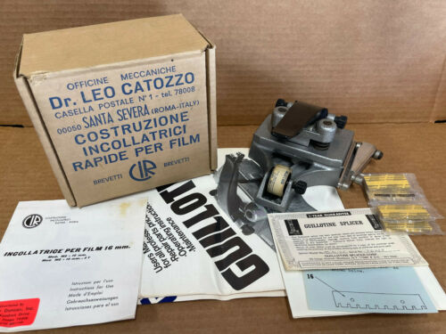 Vintage Guillotine Professional 16mm Film Splicer Dr. Leo Catozzo w/ Manuals
