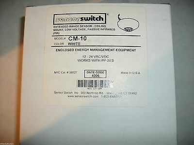 Sensorswitch Sensor Switch Cm-10 Cm10 White Pir Occupancy Sensor
