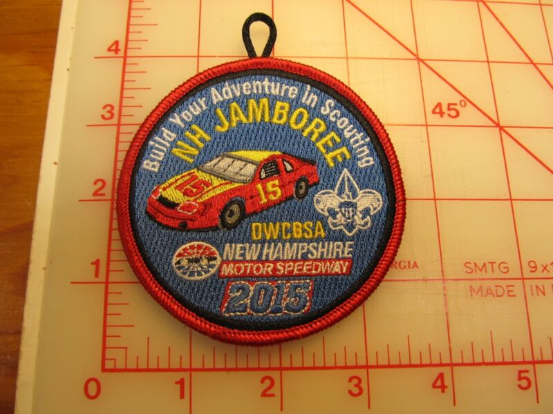 Daniel Webster Council collectible 2015 NH Jamboree red border patch (g24)