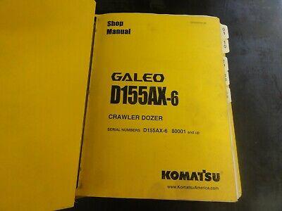 Komatsu Galeo D155ax-6 Crawler Dozer Shop Manual  Sen00596-05