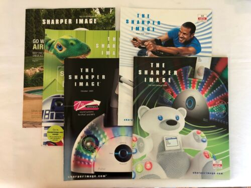The Sharper Image Lot of 5 Catalogs: 2005, 2006, 2007 & 2019