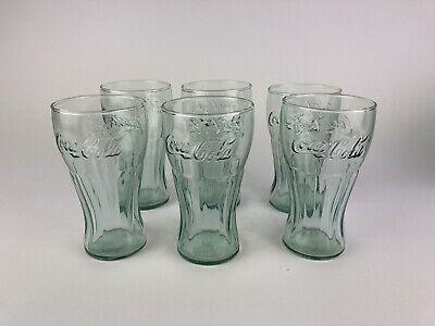 Set Of 6 Light Green Vintage Coca~Cola IG 16oz. Drink Glasses