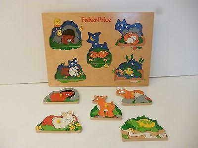 👿  Jouet Puzzle En Bois Fisher Price Vintage Année 1992