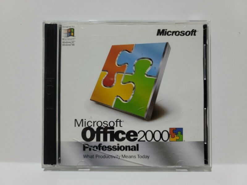 Microsoft Office 2000 Professional 2 CD set with Product Key