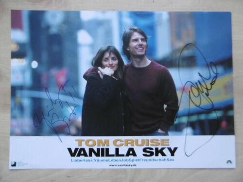 "Tom Cruise & Penelope Cruz Autogramm signed A4 Kinoaushangbild ""Vanilla Sky"""