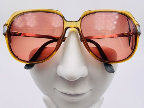 Vintage Viennaline 1297 Honey Brown Oval Sunglasses Austria FRAMES ONLY
