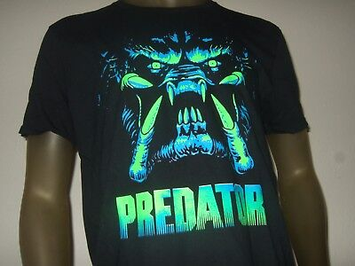 New Men's L-2X The Predator Unmasked Face Sci-Fi Horror Movie Graphic Tee Shirt - Halloween Unmasked