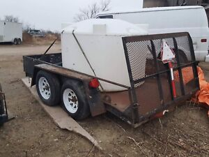 6x10 dual axel trailer with drop gate $1600