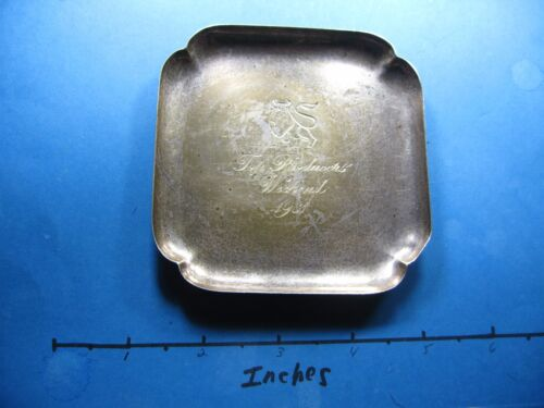 2 OZ CARTIER MERRILL LYNCH 1981 PRODUCERS WEEKEND SUPER RARE SILVER TRAY COOL