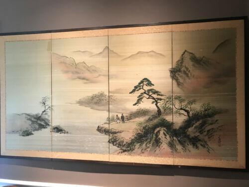 Asian Folding Silk Screen