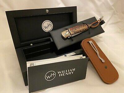 William Henry Pocket Knife Collectable B05 Ponderosa 241/250 Damascus Steel