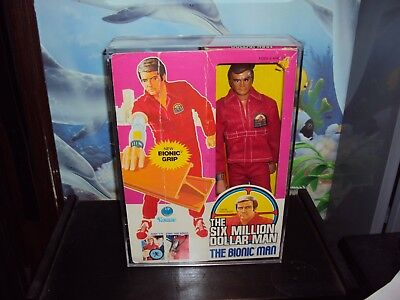 SIX MILLION DOLLAR MAN FIGURES CASES THIS SALE IS FOR ACRYLIC CASES ONLY NO - Dollar Toys